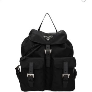 Prada vinyl backpack